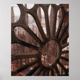 La Sagrada Familia、バルセロナ、スペインの詳細 ポスター
