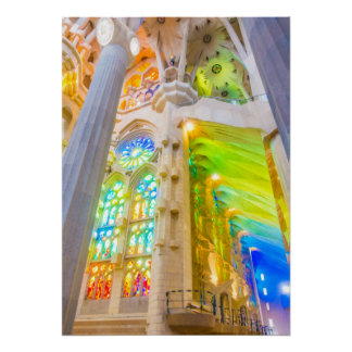 La Sagrada Família -バルセロナ、スペイン ポスター