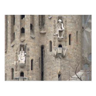 La Sagrada Família、バルセロナ ポストカード
