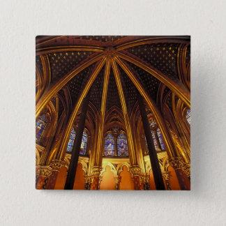 La Sainte-Chapelle、パリのチャペルを下げて下さい、 5.1cm 正方形バッジ