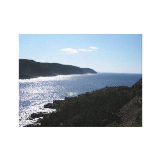 La Scieニューファウンドランドカナダ-港の崖 キャンバスプリント