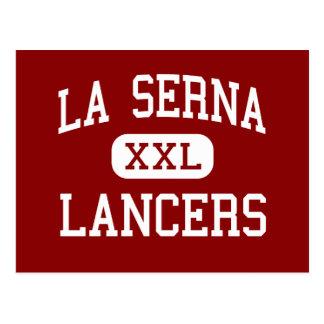 La Serna -槍騎兵-高Whittierカリフォルニア ポストカード