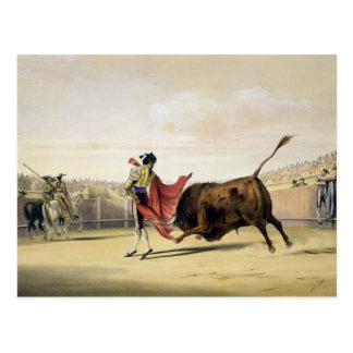 La Suerte de la Capa 1865年(色のlitho) ポストカード
