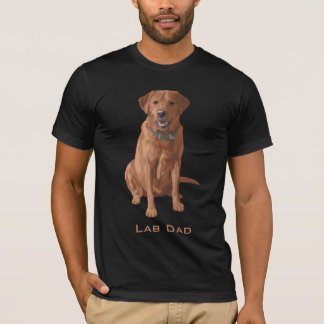 Lab Dad Fox Red Yellow Labrador Retriever Dog Tシャツ