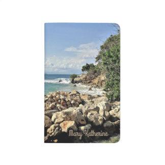 Labadieの景色の海岸名前入りな旅行ジャーナル ポケットジャーナル