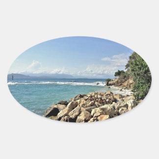 Labadieの海景第2 楕円形シール