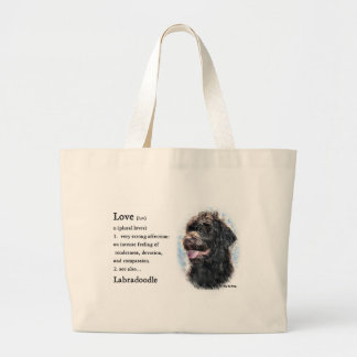 Labradoodleのギフト ラージトートバッグ
