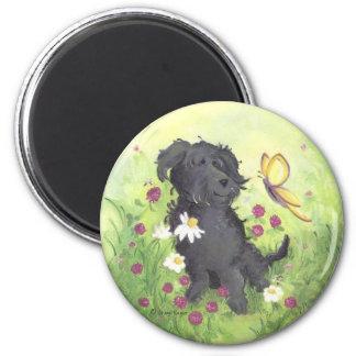 Labradoodleの落書きの犬/磁石 マグネット