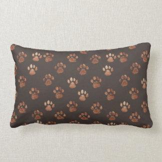 Labradoodle愛による足のプリントの枕|デザイン ランバークッション