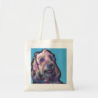 Labradoodle犬のおもしろいの明るいポップアート トートバッグ