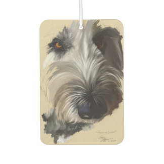 Labradoodle Dog Painting Car Air Freshner カーエアーフレッシュナー