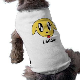 Laddieの骨があるタンクトップ ペット服