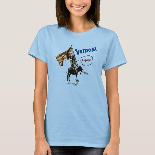 Ladies VAMOS!España!  No.7 Tシャツ