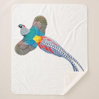 Lady Amherst Pheasant Sherpa Blanket シェルパブランケット