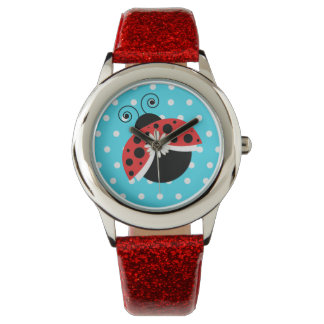 Lady Bug Polka Dot Daisy Wrist Watch Ladybug 腕時計
