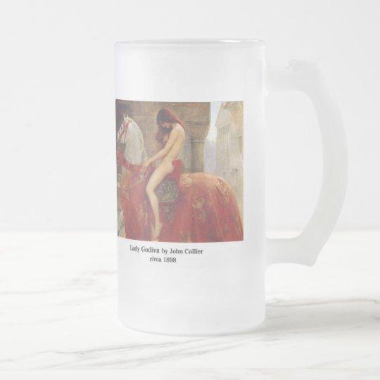 Lady Godiva, by John Collier フロストグラスビールジョッキ