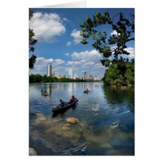 ladybird湖/オースティンテキサス州のスカイライン3 カード