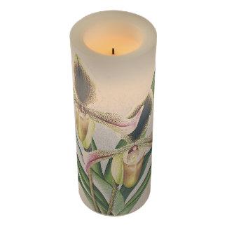 Ladysのスリッパ蘭によってはFlameless蝋燭が開花します LEDキャンドル