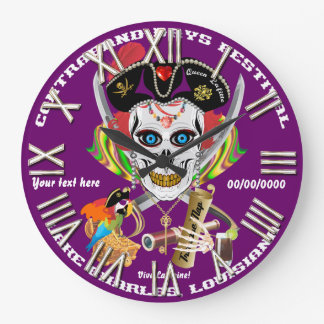 Lafitte海賊女王すべてのスタイルの眺めのヒント ラージ壁時計
