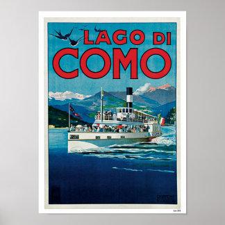Lago di Como ポスター