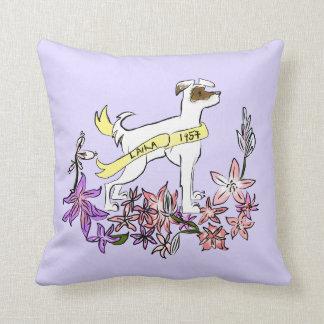 Laika宇宙犬の記念物の枕 クッション