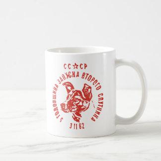 Laika -ソビエト宇宙犬CCCPのコーヒー・マグ コーヒーマグカップ