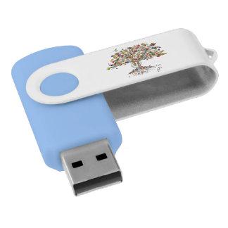 Lake Charlesのプライドの木8GBの旋回装置USB (空色) USBフラッシュドライブ