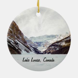 Lake Louiseのクリスマスのオーナメント セラミックオーナメント