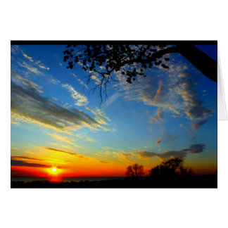 Lake Winnebago Sunset Thinking Of You カード