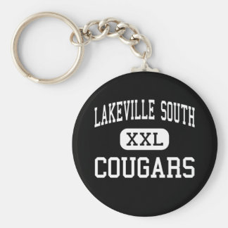 Lakeville南-クーガー-高Lakeville ベーシック丸型缶キーホルダー