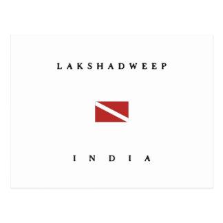 Lakshadweepインドのスキューバ飛び込みの旗 ポストカード