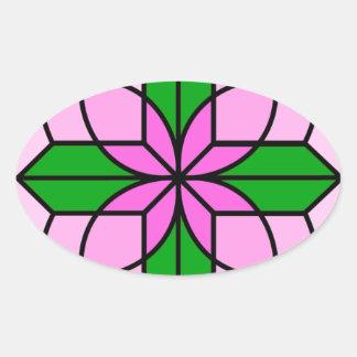 Lakshmiのはす 楕円形シール