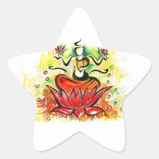 Lakshmi Maaのハンドメイドの抽象的な絵画 星シール