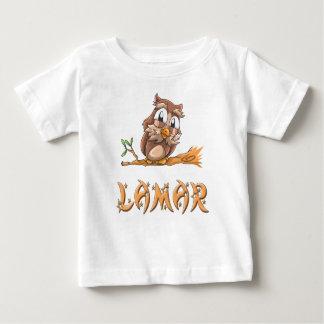 LamarのフクロウのベビーのTシャツ ベビーTシャツ