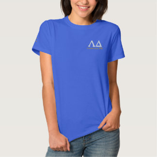 Lambdaのデルタのポロ 刺繍入りTシャツ