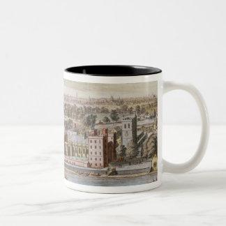 Lambeth宮殿、Canterbuの大主教の座席 ツートーンマグカップ
