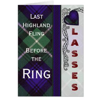 Lamontのスコットランド人のタータンチェック カード