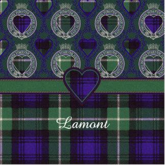 Lamontの一族の格子縞のスコットランド人のタータンチェック 写真彫刻キーホルダー