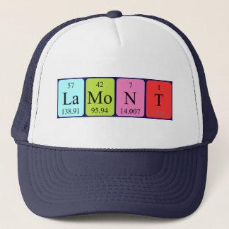 Lamontの周期表の名前の帽子 キャップ