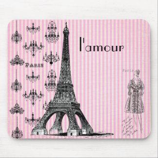 l'amourのパリのマウスパッド、愛パリのマウスパッド マウスパッド
