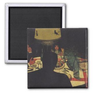 Lamplight 1899年による夕食 マグネット