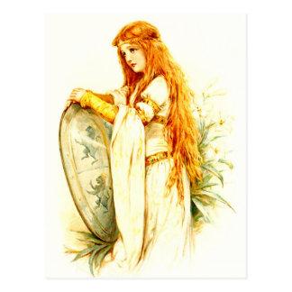Lancelotの盾を持つユリの女中 ポストカード