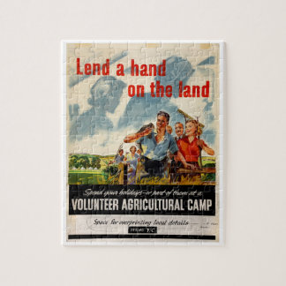 land_Propagandaポスターの手を貸して下さい ジグソーパズル
