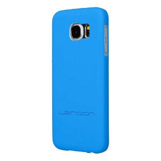 Landonの淡いブルーのスタイルのSmartphoneの場合 Samsung Galaxy S6 ケース