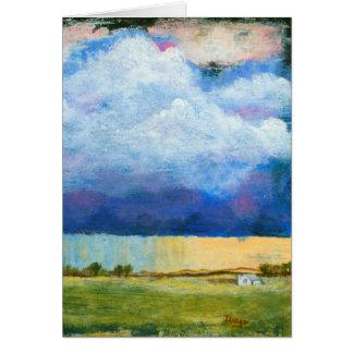 Landscape Art Painting House Rain Storm Clouds カード