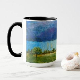 Landscape Art Painting House Rain Storm Clouds マグカップ