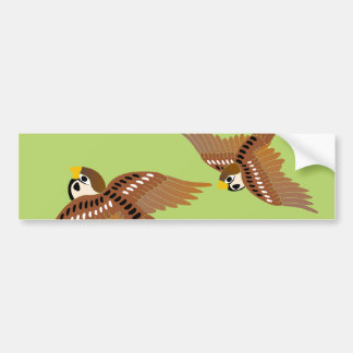 Landscape of everyday sparrow dances バンパーステッカー