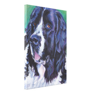 Landseerニューファウンドランド犬の芸術犬の絵画 キャンバスプリント