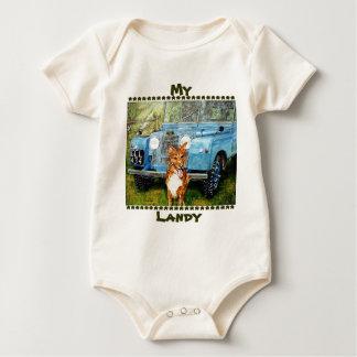 Landyの私の赤ん坊は演劇及びベッドを育てます ベビーボディスーツ