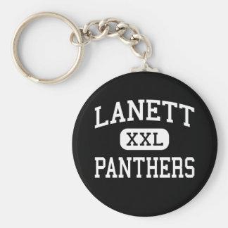 Lanett -ヒョウ-高等学校- Lanettアラバマ ベーシック丸型缶キーホルダー